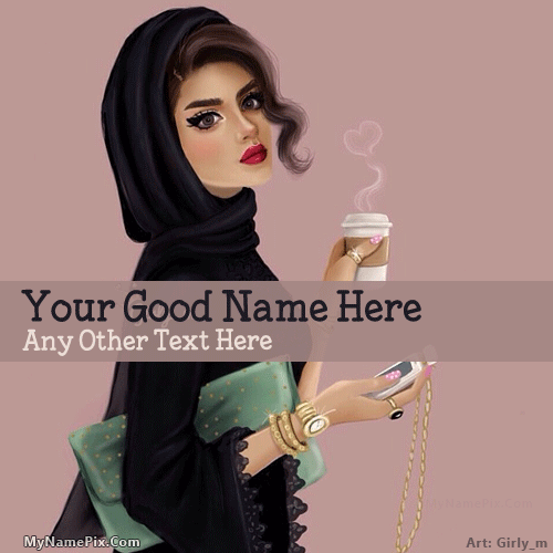 Arab Girl Drawing With Name