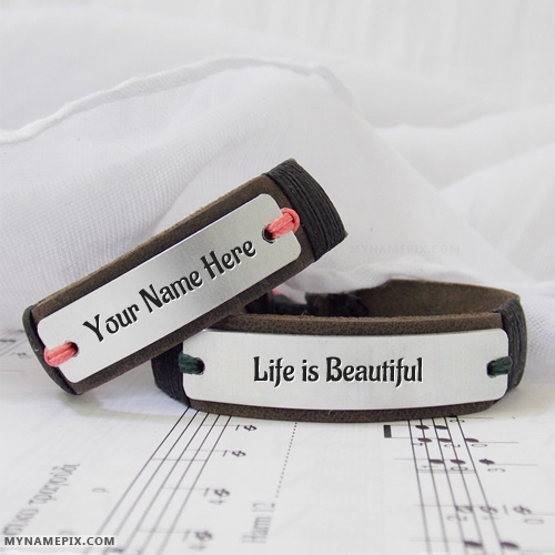 Personalized Awesome Leather Bracelet With Name