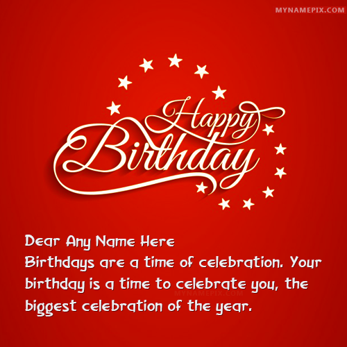 Beautiful Happy Birthday Wishes With Name