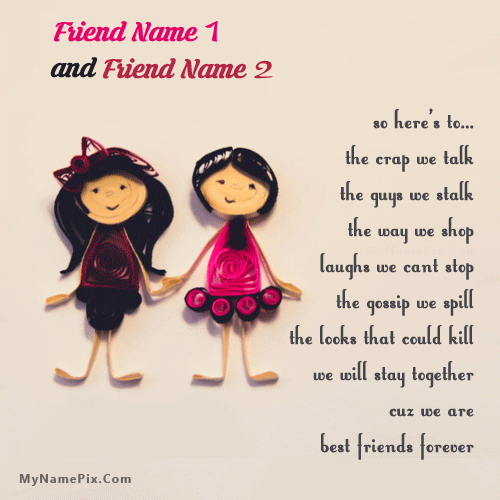 Best friends forever girls With Name