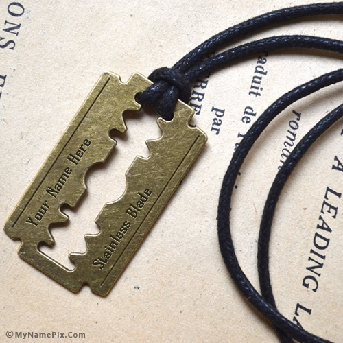 Personalized Blade Necklace With Name