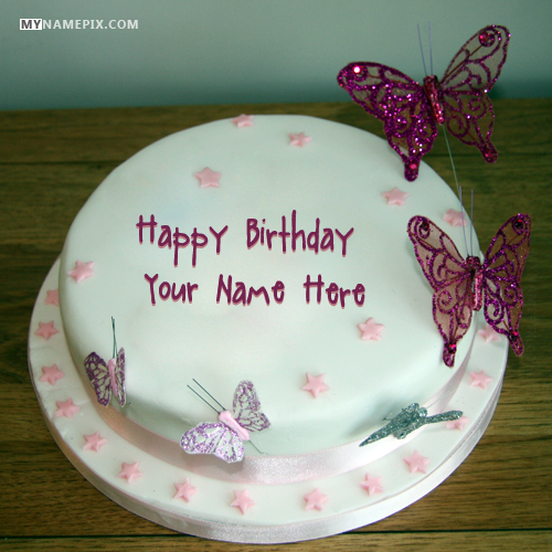 Birthday Cake For Girls With Name Edit