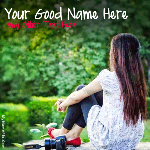Cute Girl Waiting With Name