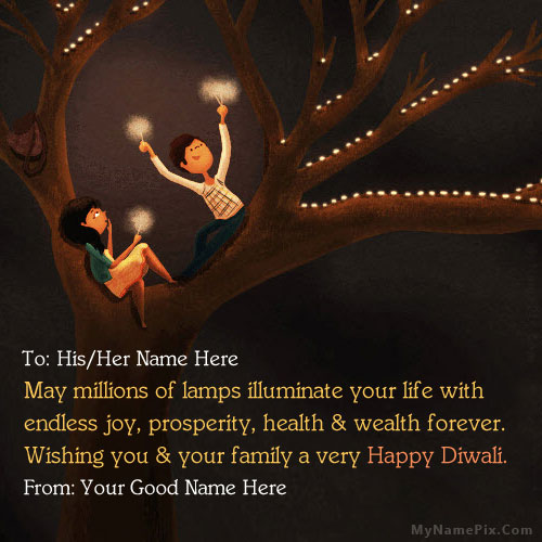 Diwali Greeting for Couples With Name