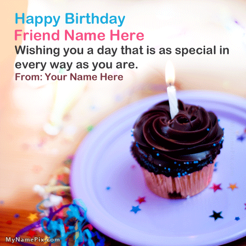 Friend Birthday Wish With Name
