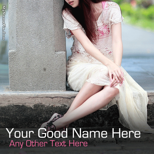 Girl Waiting With Name