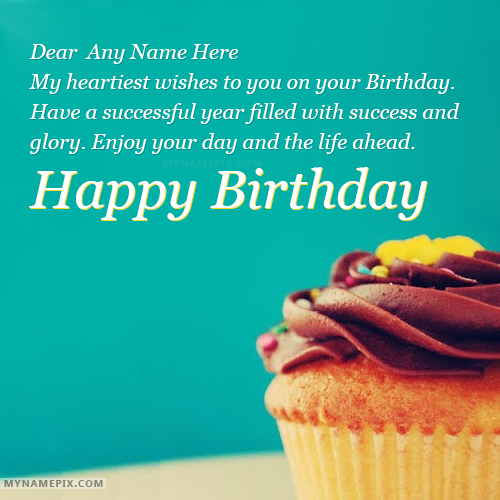 Happy Birthday Greetings With Name