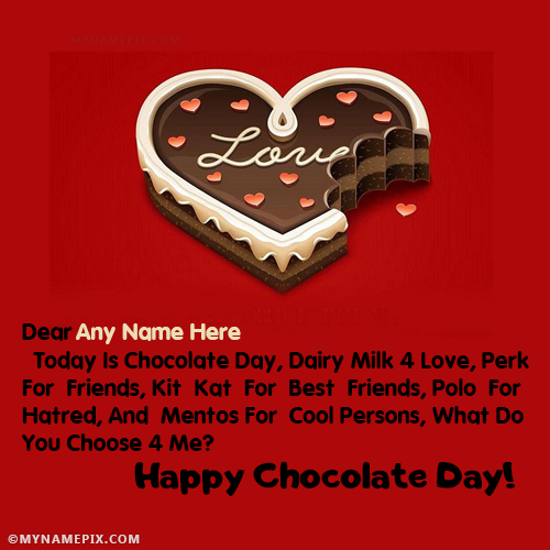 Happy Chocolate Day Images With Name