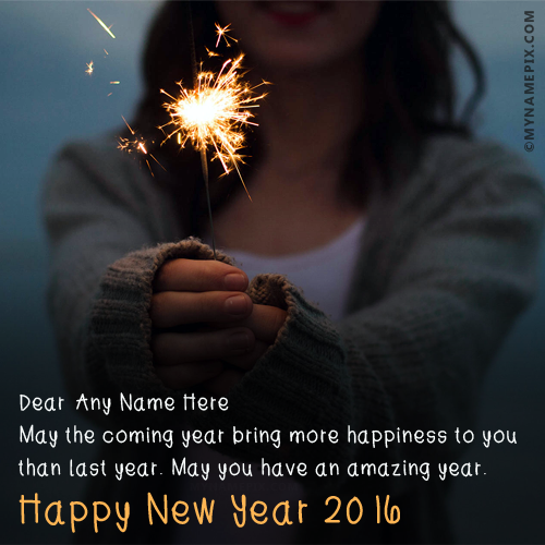 Happy New Year 2017 Wishes With Name