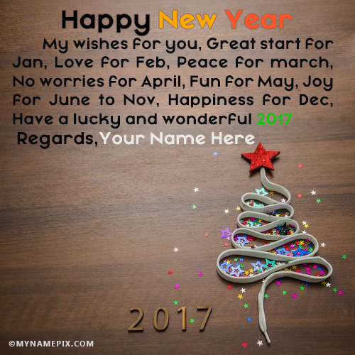 Happy New Years Eve 2017 Wishes With Name
