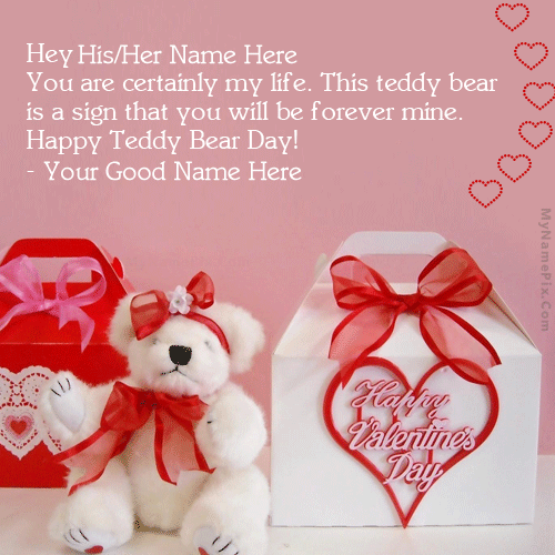 Happy Teddy Bear Day With Name