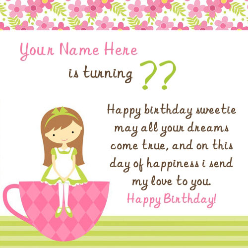Birthday Wish for Girl With Name