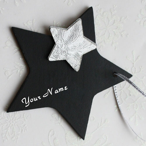 Black Star With Name