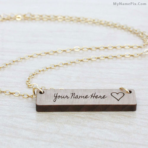 Personalized Engraved Bar Necklace With Name