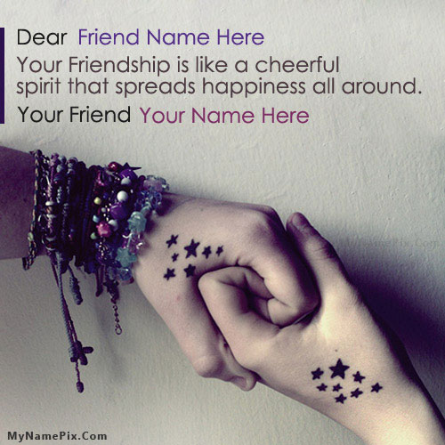 Friendship Hands With Name