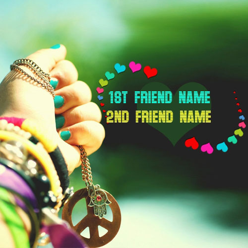 Friendship Hearts and Bands With Name