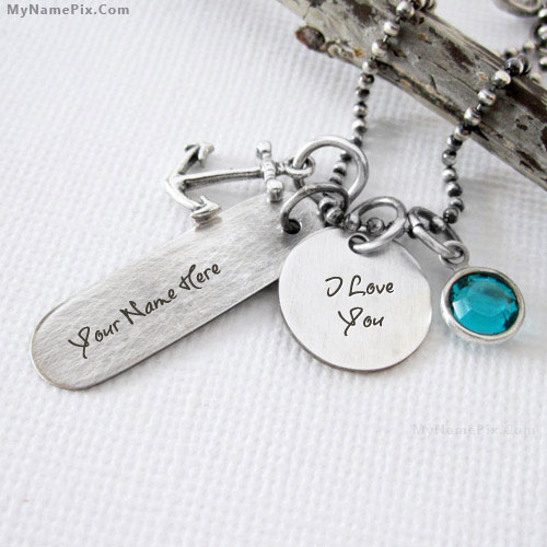 Personalized I Love You Necklace With Name