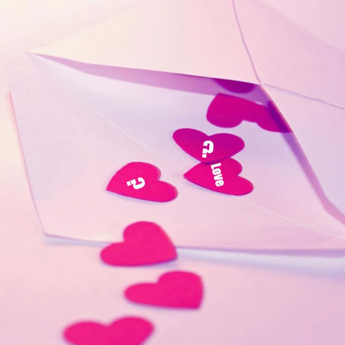 Letter Hearts With Name