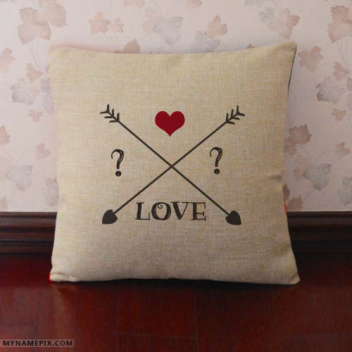 Love Pillow With Name