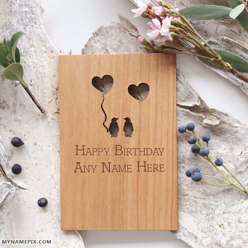 Lovely Card Of Happy Birthday Wishes With Name