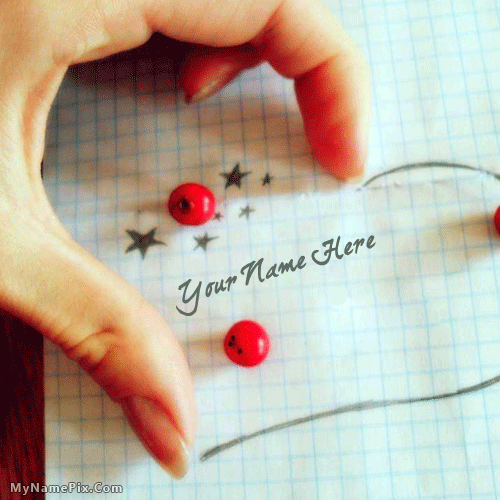 My Hand Heart With Name