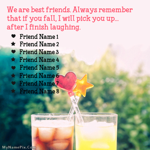Remember Friends With Name