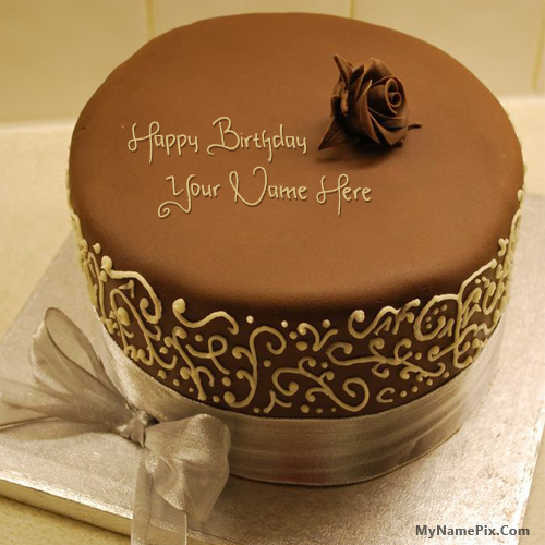 Royal Chocolate Birthday Cake With Name Birthday Cakes With Name Edit For Facebook