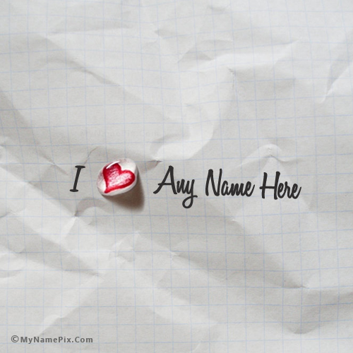 Tear Heart With Name