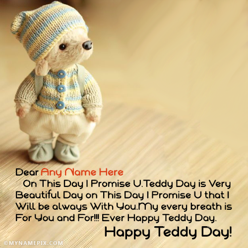 Teddy Day Quotes With Name