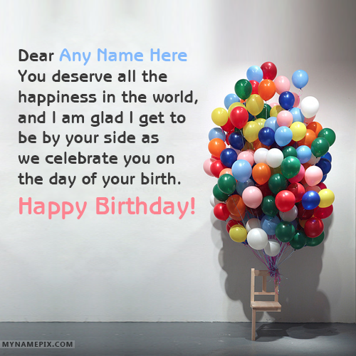 Write Name on Best Birthday Wishes